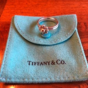 Authentic Tiffany & Co. Picasso Flower Bead Ring